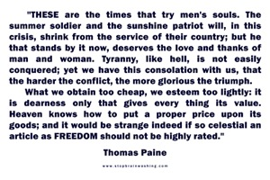 Thomas Paine - CLICK  TO READ