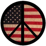 Peace Symbol with Flag of Freedom