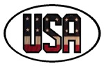 USA OVAL STICKERS & MORE!