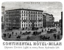 1887 Hotel Continental, Milan Italy