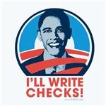 Obama: I'll Write Checks!