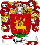 Verdier Family Crest, Coat of Arms