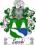 Sacchi Family Crest, Coat of Arms