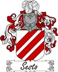 Sesto Family Crest, Coat of Arms