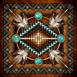 Native American Style Tapestry 1