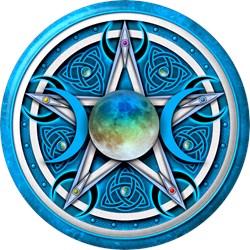 Blue Triple Goddess Pentacle