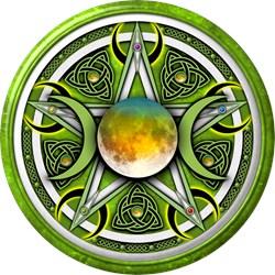 Green Triple Goddess Pentacle
