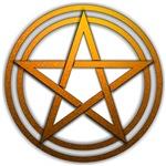 Orange Metal Pagan Pentacle