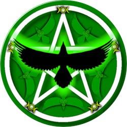 Crow Pentacle - Green