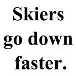 skiers go down