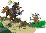 Deer! Horse!