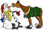 Horse & Snowman