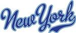New York Script Font Blue