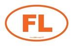 Florida FL Euro Oval ORANGE