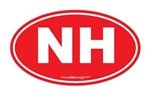 New SectionNew Hampshire NH Euro Oval RED