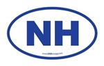 New Hampshire NH Euro Oval BLUE
