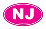 New Jersey NJ Euro Oval PINK