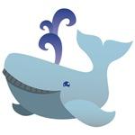 Cute humpbakc whale
