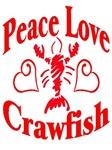 Peace Love Crawfish