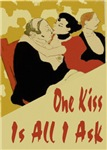One Kiss Valentine Card