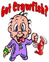 Kids and Infants Crawfish Designs