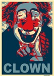 Red and Blue Clown