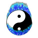 Yin Yang Blue Flames