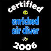 Certified EANx Diver 2006
