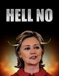 Hell No Hillary Clinton