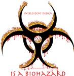 Intelligent Design Is A Biohazard - Flame with dri
