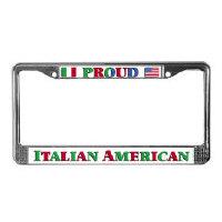Italian American License Plates Frames