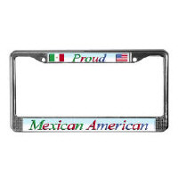 Mexican American License Plate Frames