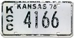 1978 Kansas License Plate