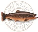 The Mountain Stream Co trout photo logo