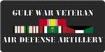 Army Gulf War Air Defense Units License Plates/Mug