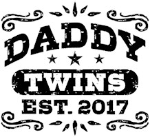 Daddy Twins Est. 2017 t-shirts