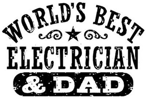 World's Best Electrician and Dad t-shirts