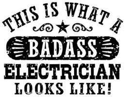 Badass Electrician t-shirts