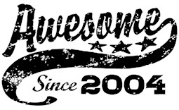 Awesome Since 2004 t-shirt