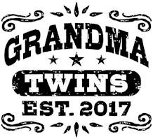Grandma Twins Est. 2017 t-shirts