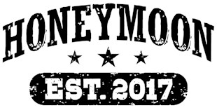 Honeymoon Est. 2017 t-shirts