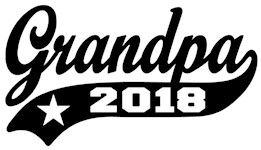 Grandpa 2018 t-shirt