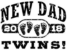 New Dad Twins 2018 t-shirts