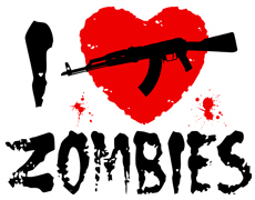 I AK47 Zombies t-shirt