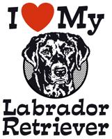 I Love My Labrador Retriever t-Shirts
