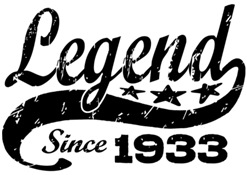 Legend Since 1933 t-shirt