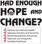 Had Enough Hope & Change? Checklist