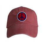 New *Embroidered* Peace Symbol WEAR