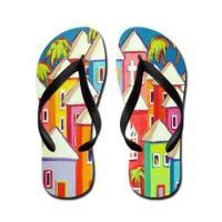 Colorful Korpita Art Flip Flops