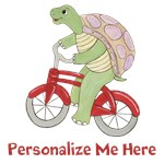 Personalized - Turtle on Bicycle